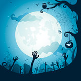 Halloween illustration - Graveyard