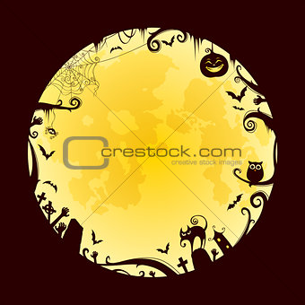 Halloween Full Moon design