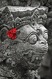 Old stone statue of Balinese god