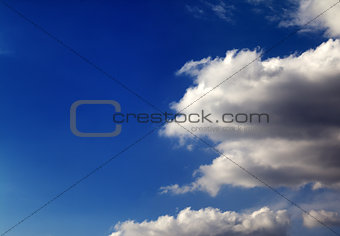 Blue sky with clouds in nice summer day