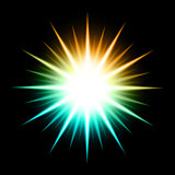 Vector Abstract Background With Glowing Star