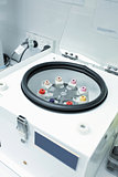 Centrifuge with pathology blood tubes for spinning