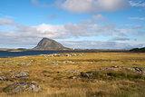 Hoven Mountain, Gimsoya, Lofoten Islands, Norway, Scandinavia