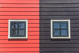 Windows of colorful houses