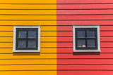 Windows in colorful houses