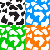 Seamless animal patterns skin fur