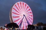 Ferris Wheel - Red and White
