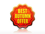 best autumn offer starlike label