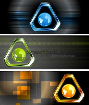 Abstract hi-tech vector banners