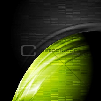 Green and black contrast technology backdrop