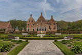 Side view of the old dutch mansion Menkemaborg