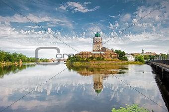 Vyborg Castle, built on a small island