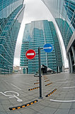 Parking spaces of office buildings. Moscow City.