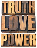 truth, love and power