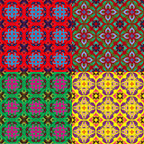 set of seamless backgrounds with vintage ornament