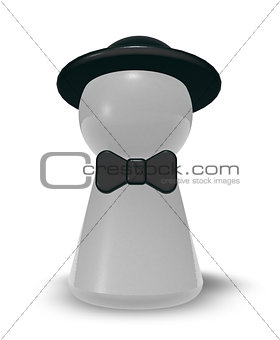 bow and hat
