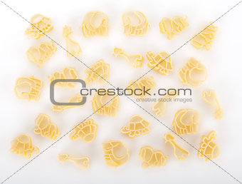 Baby pasta with animals shape