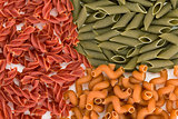 Colored pasta food background
