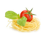 Cherry tomato, basil and pasta