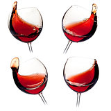 Various wine splashes