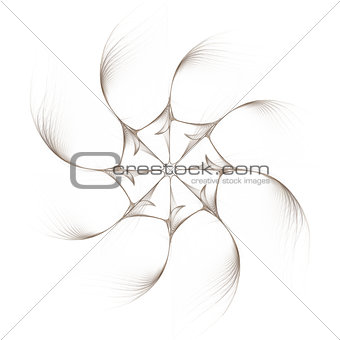 Fractal - eight-pointed abstraction