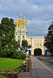 Pushkin town. Catherine garden and palace.