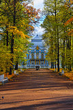 The Hermitage  pavilion in Catherine park in Pushkin