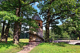 Summer landscape of the Pavlovsk garden, Pil-Tower pavilion.