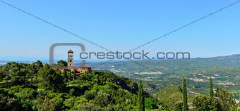 landscape with monastery Montserrat in Spain.