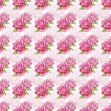 seamless pattern with watercolor roses