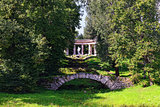Summer landscape of the Pavlovsk garden, Apollo Colonnade