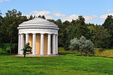 Summer landscape of the Pavlovsk garden, Temple of Friendship