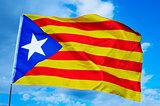 Estelada, the Catalan separatist flag
