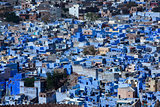 cityscape blue houses of jodhpur in india rajasthan