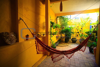 hammock in patio