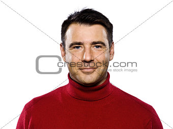 caucasian handsome man portrait smiling mature