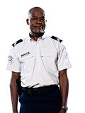 Portrait of mature policeman