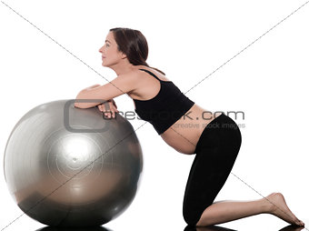 Pregnant Woman Ball Exercise