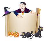 Halloween Dracula Banner