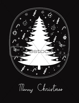 Christmas card on black background