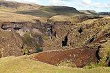 Spring landscape. Iceland