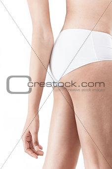 Slim body of indian female