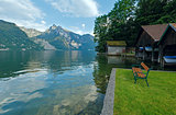 Traunsee summer lake (Austria).