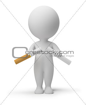 3d small people - breaking cigarette