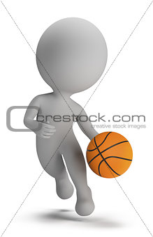 3d small people - basketball player