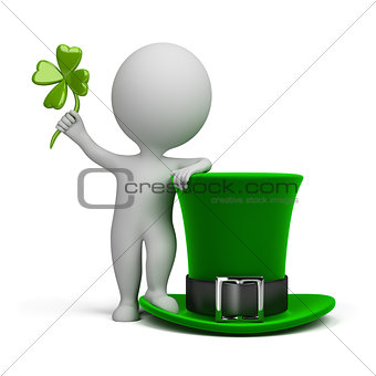 3d small people - hat of Saint Patrick