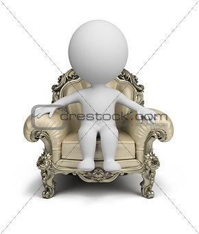 3d small people - luxurious armchair