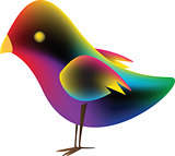 Bird With Gradient Mesh
