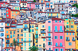 Colorful houses of Provence town Menton