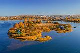 Autumn sunny island